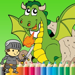 Dragon Paint and Coloring Book: Learning skill best of fun games free for kids