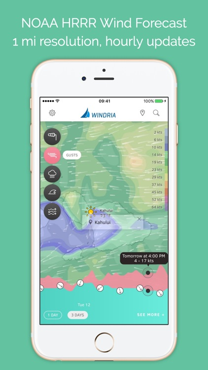 Windria - Hawaii (NOAA high-res wind/marine weather forecast)