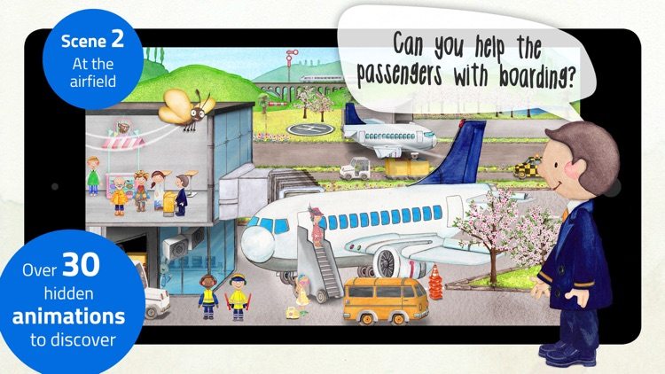 Tiny Airport - Interactive Activity App for Kids screenshot-3