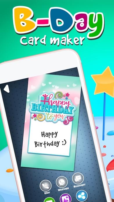 Virtual B Day Card Maker Wish Happy Birthday With Decorative