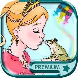 Princesses coloring book Paint dolls & fairy tales - Premium
