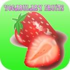 Frutas Relación Vocabulario: guardería Los primeros juegos de aprendizaje partido alfabeto libre icon