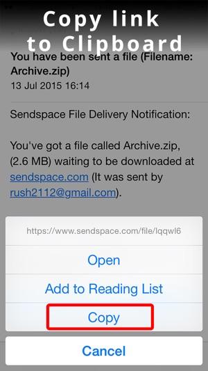 da sendspace iphone