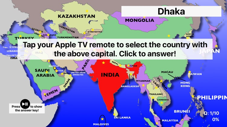 Asia Map Quiz: Learn Geography