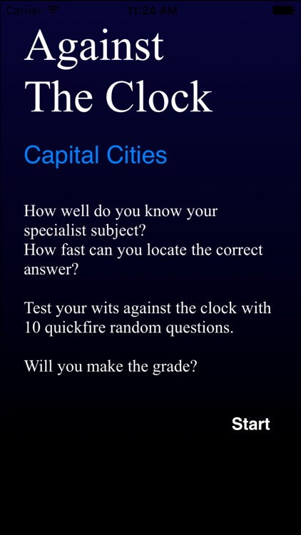 Against The Clock - Capital Cities