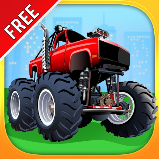 Monster Trucks and Sports Cars : puzzle game for little boys and preschool kids : Free