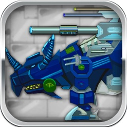 Triceratops : Robot Dinosaur Trivia & Arcade & Funny Puzzle Game