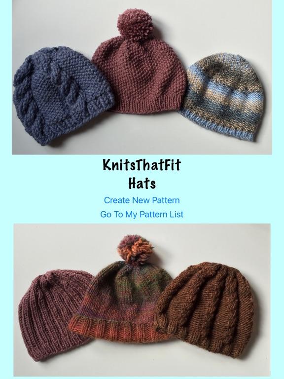 Knitsthatfit Hat Knitting Patterns Customisable App Price Drops