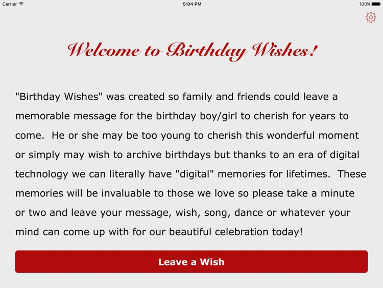 Bday Wishes - Digital Birthday Wish Recorder
