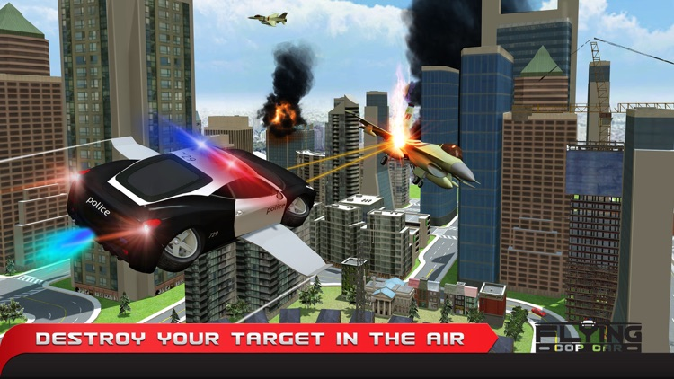 Flying Cop Car Simulator 3D – Extreme Criminal Police Cars Driving and Airplane Flight Pilot Simulation