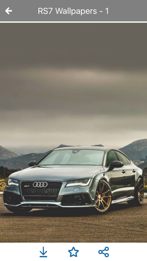 HD Car Wallpapers   Audi RS7 Edition On The App Store