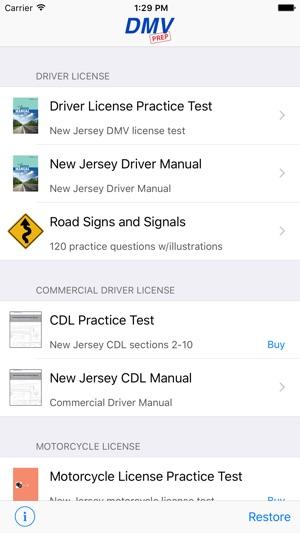 new jersey dmv test prep on the app store rh itunes apple com DMV of NJ Motor Vehicles New Jersey DMV Handbook