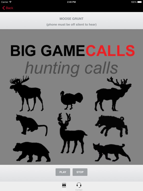 Big Game Hunting Calls -The Ultimate Hunting Calls App For Whitetail Deer, Elk, Moose, Turkey, Bear, Mountain Lions, Bobcats and Wild Boar & BLUETOOTH COMPATIBLE screenshot-3