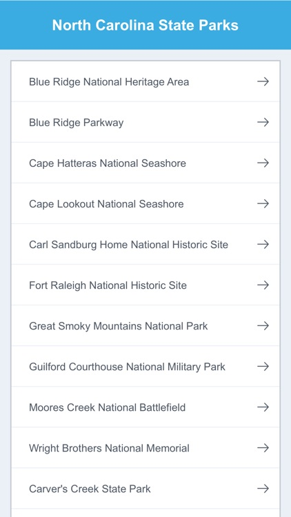North Carolina National Parks & State Parks