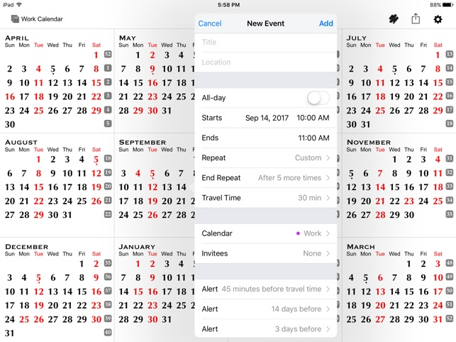 All-in-One Year Calendar
