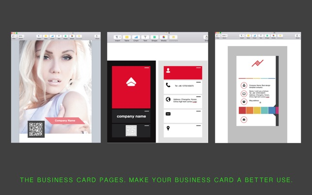 Business card templates for pages on the mac app store accmission Gallery