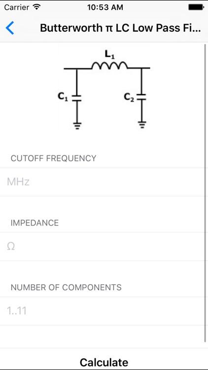 Electronic Filters Calculators - Electrical screenshot-3