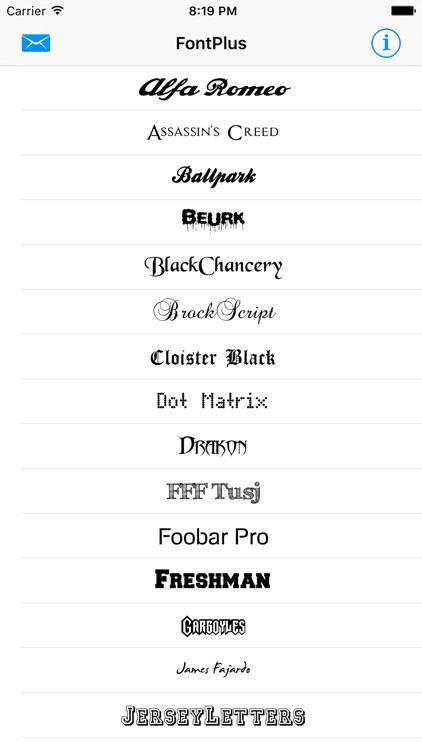 FontPlus - Install new fonts screenshot-0