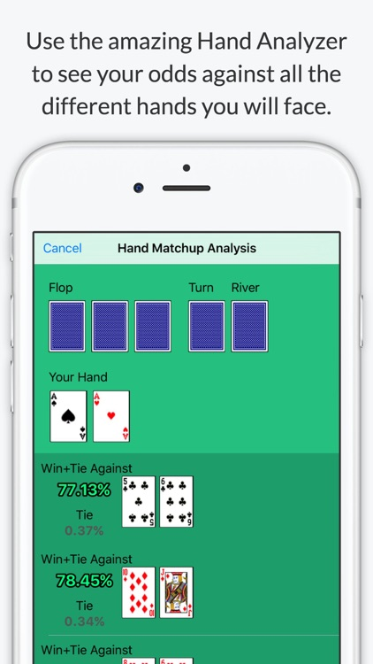Texas Holdem Poker Odds Calculator - Calculate chances to win screenshot-1