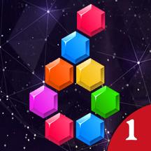 六边形消除—经典六角形方块、蜂巢 Hex Crush! 益智校园游戏。