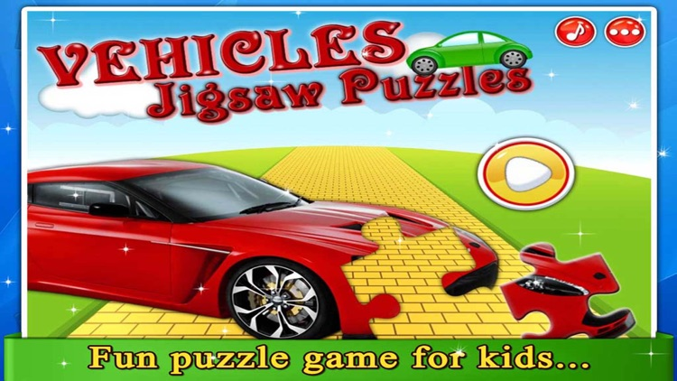 Vehicles Jigsaw Puzzle - Kids Jigsaw Puzzle for Toddler