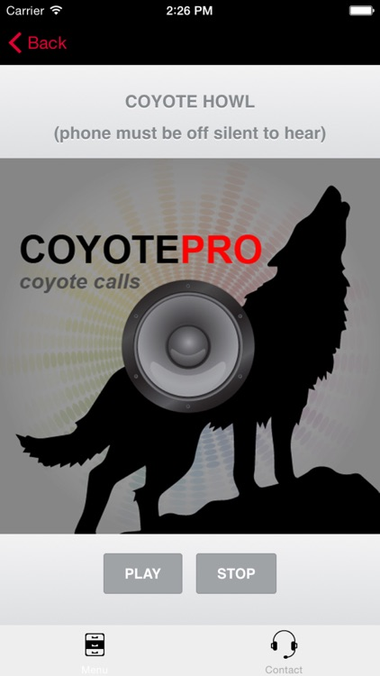 REAL Coyote Hunting Calls - Coyote Calls and Coyote Sounds for Hunting (ad free) BLUETOOTH COMPATIBLE screenshot-0