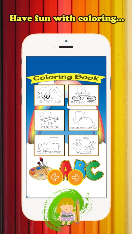 ABC Coloring Book for children age 1-10 (Spanish Alphabet Upper): Drawing & Coloring page games free for learning skill
