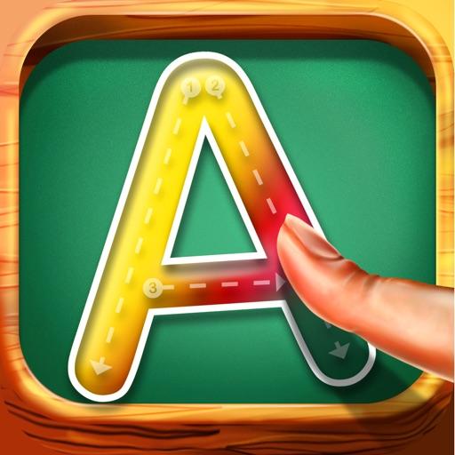 Preschool Kids Tracing Letters