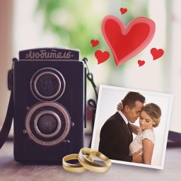 Wedding And Vintage Camera For Taking Selfies And Moments