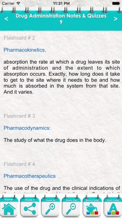 Drug Administration Course & Exam Review/ 2600 Flashcards - Quiz & Study Notes screenshot-3