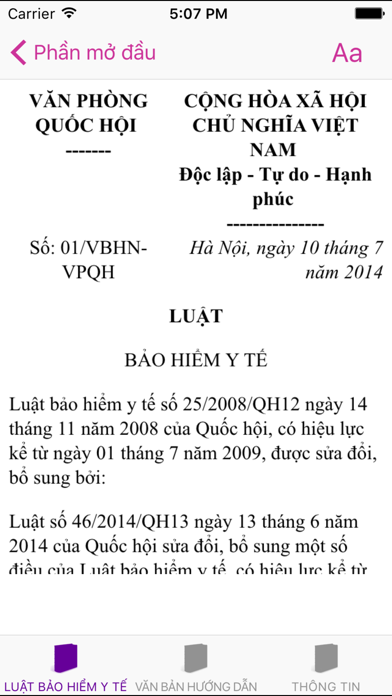 Luật Bảo Hiểm Y Tế 2008 screenshot two