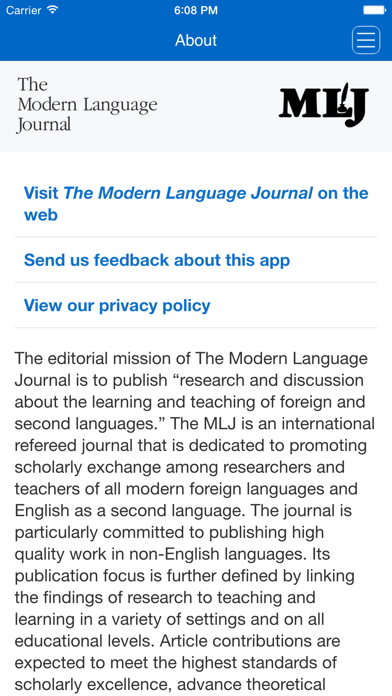 The Modern Language Journal screenshot three
