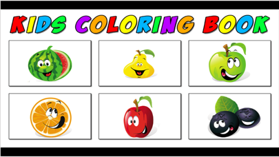 pictures fruits game - My Apps Colorings Books For Kids Free screenshot one
