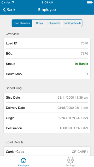 JDA Transportation Mobile User屏幕截圖2