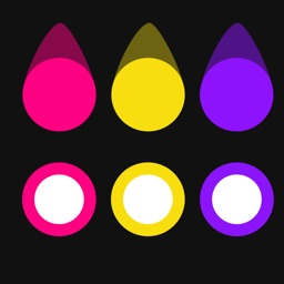 Color Swipe Dots - Switch the circle color to match the dot colors, addictive free puzzle game with tons of levels and styles