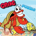 Crab Sea World Animal Jigsaw Puzzle Activity Learning Free Kids Games or 3,4,5,6 and 7 Years Old icon