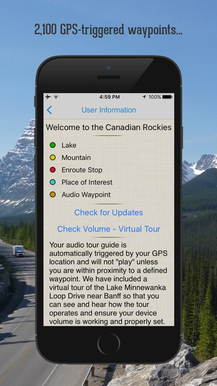 Canadian Rockies Audio Guide screenshot-0