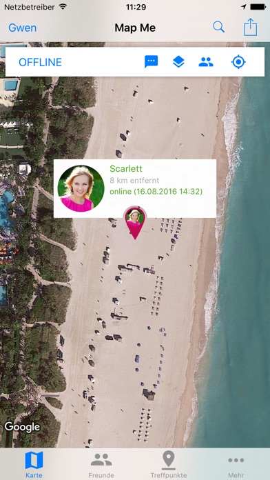 Map Me - Share your location in real timeScreenshot von 3