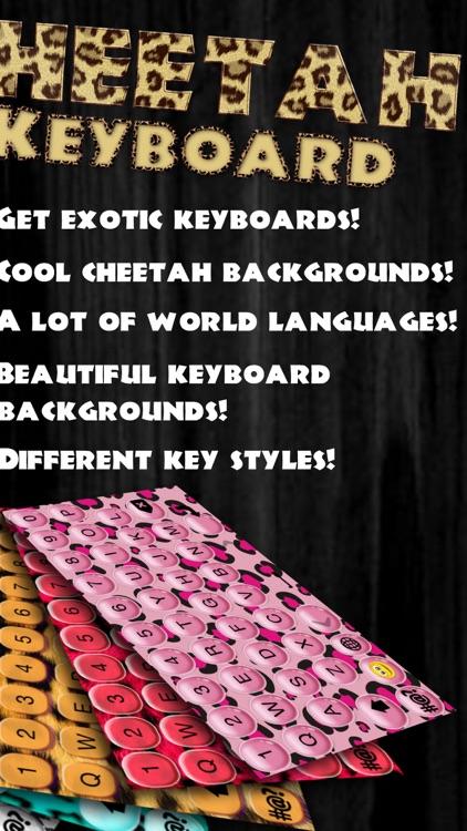 Cheetah Keyboard Design.er – Fashion Keyboards with Animal Print Themes