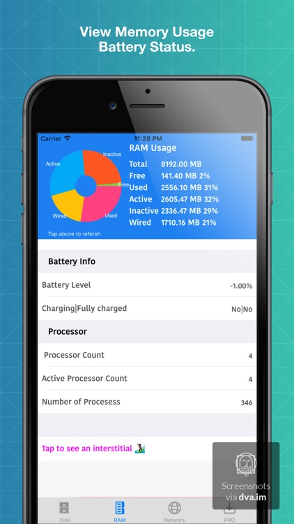 S2 System Status Monitor Lite with usage Widget battery charge and Memory data Manager Info