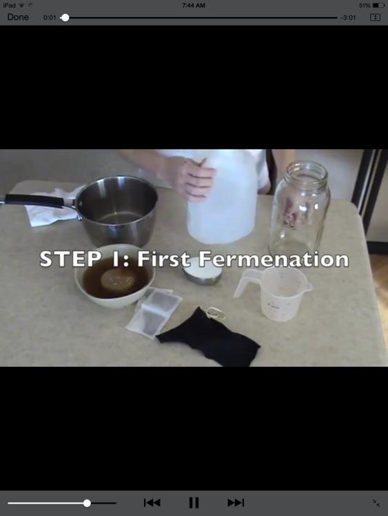KOMBUCHA Made Easy! How to Make Kombucha Tea - (Ad Free) Your First Home Brew With Probiotics!