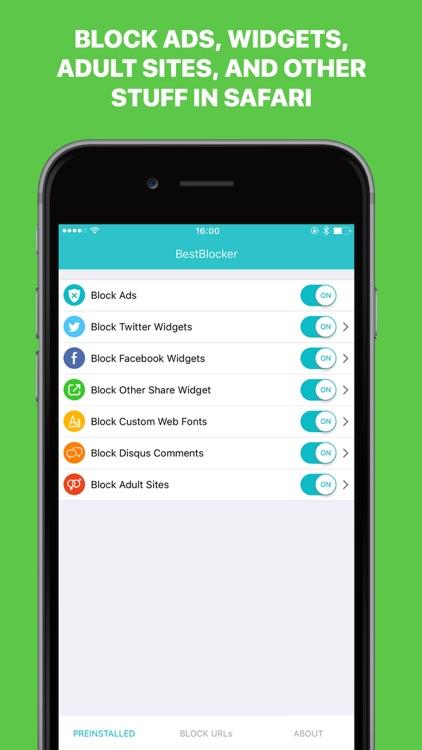 BestBlocker – Block Ads, Widgets, Porno Sites, Cookies and Fonts in Safari