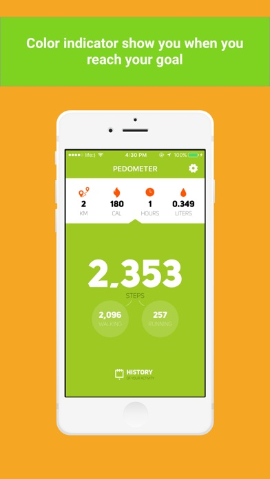 Screenshot #2 pour Private Pedometer - calorie,water,activity tracker