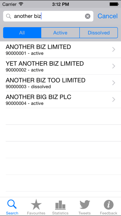 Companies House screenshot one