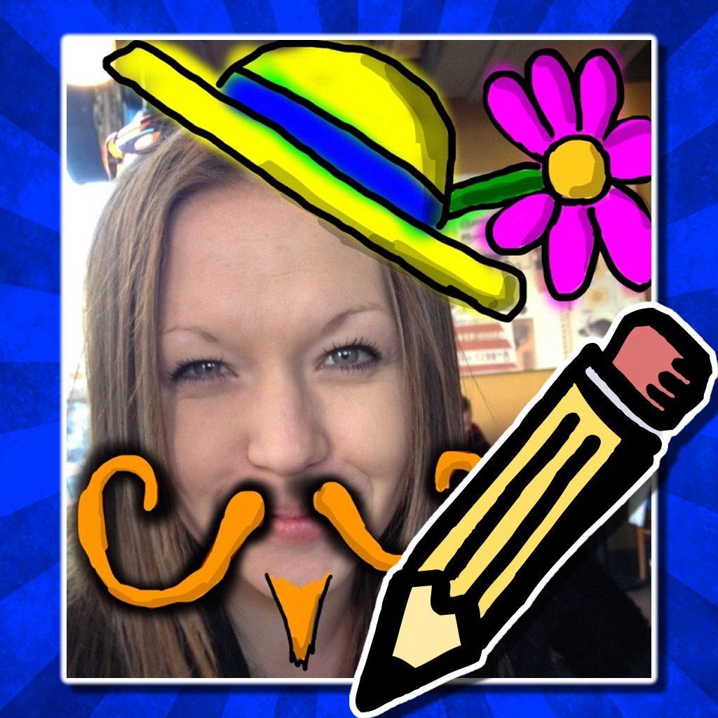Doodle Face! Draw something silly on your photos!