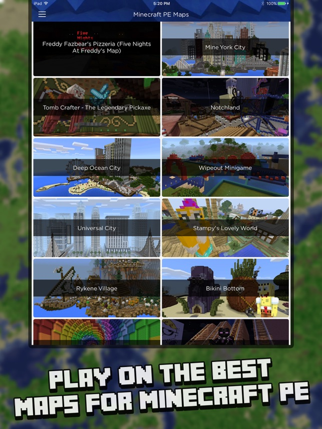 Maps For Minecraft PE Map Installer On The App Store - Maps fur minecraft pe ios