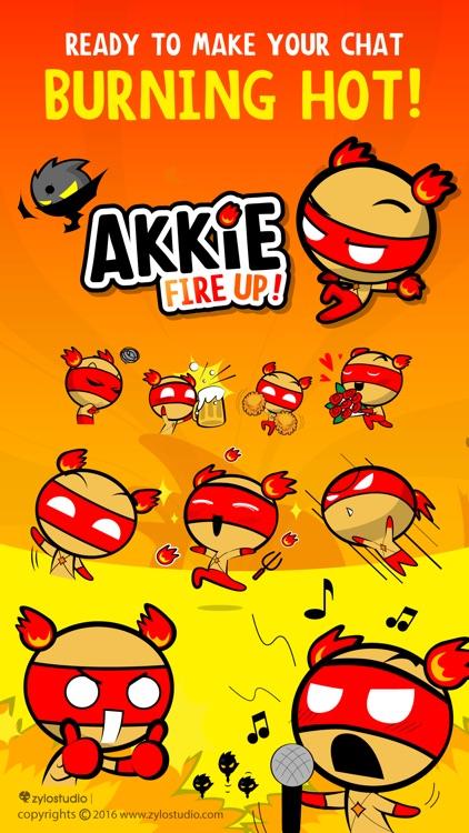 Akkie Fire Up! Sticker Emoji Keyboard By ChatStick