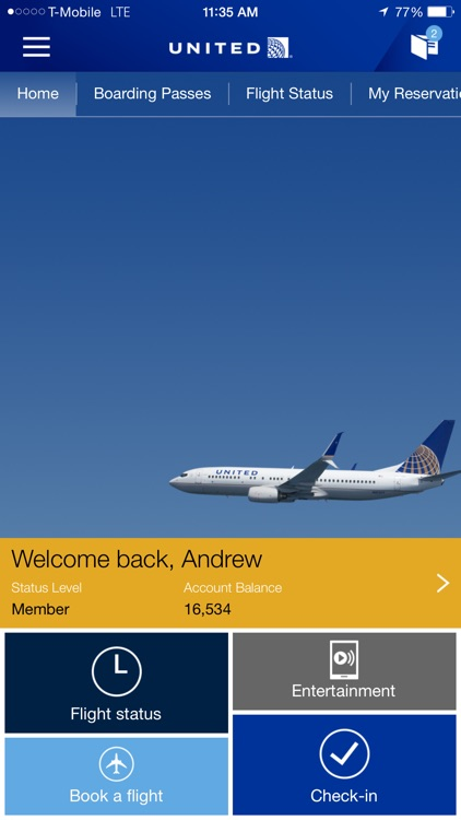 United Airlines screenshot-0