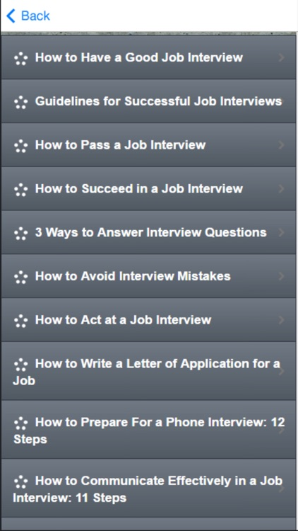 How to Ace a Job Interview - Tips, Tricks & Advice screenshot-1
