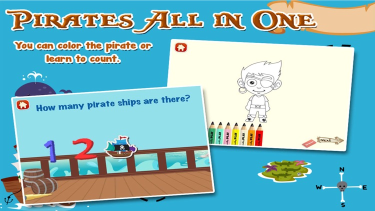 Pirates Adventure All in 1 Kids Games